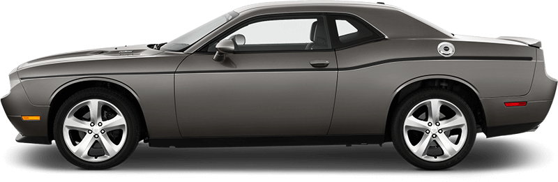 Image of Upper Beltline Pinstripes on 2008 Dodge Challenger
