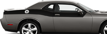 Rear Upper Body Partial Stripes on the 2008 to 2014 Dodge Challenger