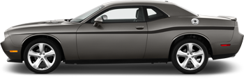 Yellow Jacket Style Beltline Stripes on the 2008 to 2014 Dodge Challenger