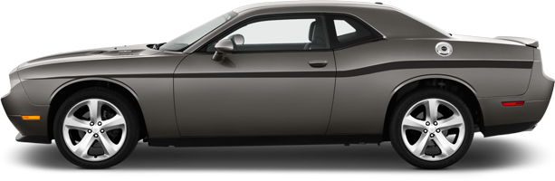 Image of Yellow Jacket Style Beltline Stripes on 2008 Dodge Challenger