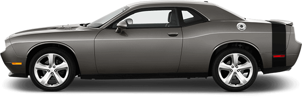 2015-2020 Challenger Rear Bumblebee Tail Stripes on vehicle image.
