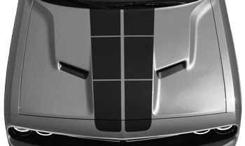 Dodge Challenger 2015 Blacktop '16 Rally Stripes Kit