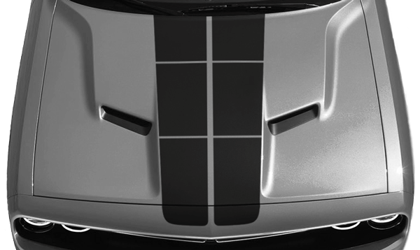 Dodge Challenger Blacktop 16 Rally Stripes Kit Vinyl