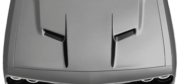 Dodge Challenger 2015 Center Hood Accent Spears