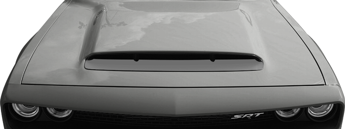 2018-2018 Challenger SRT Demon Power Bulge Hood Intake Blackout on vehicle image.