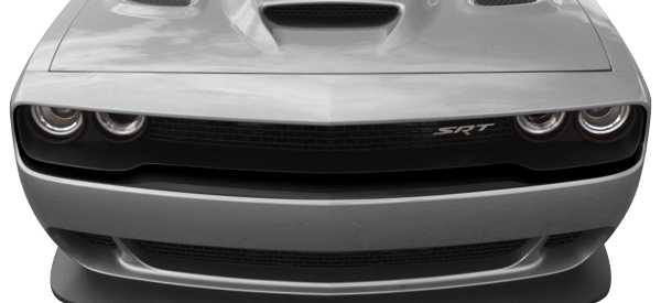 2015-2019 Challenger Hellcat Front Fascia Blackout on vehicle image.