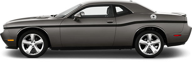 2015-2019 Challenger MOPAR 10 Style Beltline Stripes on vehicle image.
