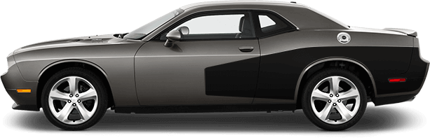 Dodge Challenger Rear Billboard Side Stripes Vinyl Decal