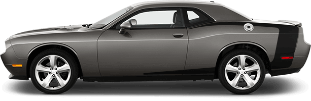 2015-2019 Challenger Reverse C Side Stripes on vehicle image.