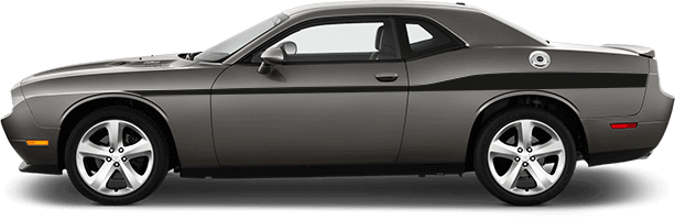 View 2015 to Present Dodge Challenger with and without Redline Side Stripes OEM Style Graphics installed.