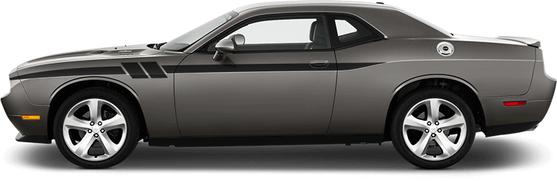 2015-2019 Challenger Side Accent Hash Stripes on vehicle image.