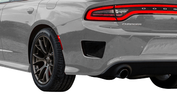 Rear Bumper Vent Accents on the 2015 to Present Dodge Charger