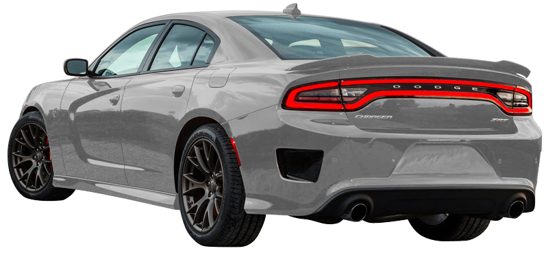 2015-2019 Charger Rear Bumper Vent Accents on vehicle image.