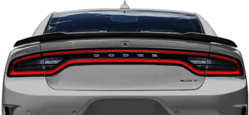 SRT Hellcat / SRT 392 / R/T Scat Pack Rear Spoiler Edge Blackout on the 2015 to Present Dodge Charger