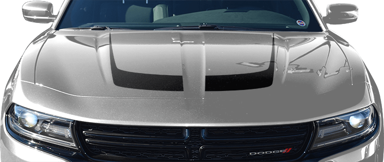 Dodge Charger Hockey Stick Hood Accent Stripes Vinyl