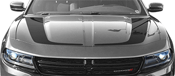 Hockey Stick Hood Stripes on the 2015 to Present Dodge Charger