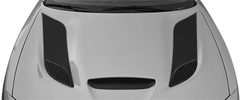 SRT Hellcat Hood Vent / Nostril Flares on the 2015 to Present Dodge Charger