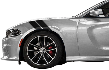Le Mans Fender Stripes on the 2015 to Present Dodge Charger