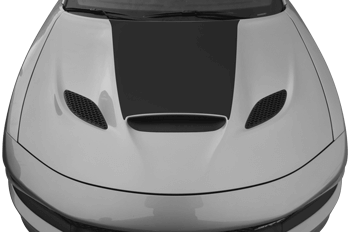 SRT Hellcat / SRT 392 / R/T Scat Pack Power Bulge Hood Decal on the 2015 to Present Dodge Charger
