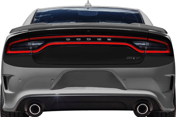 Image of Rear Complete Blackout Decals on 2015 Dodge Charger