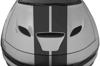SRT Rally Racing Dual Stripes Kit on the 2015 to Present Dodge Charger