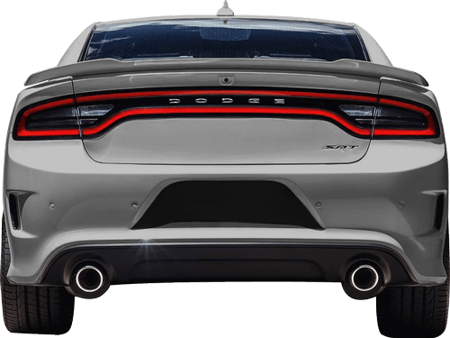 Image of Rear License Plate Blackout Accents on 2015 Dodge Charger