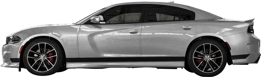 2015-2019 Charger Rocker Panel Stripes on vehicle image.