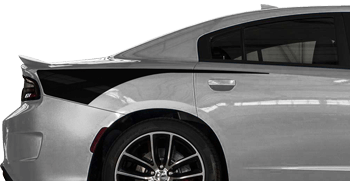 Rear Quarter Hatchet Stripes on the 2015 to Present Dodge Charger