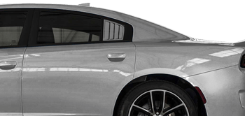 Rear Side Window Simulated Louvers on the 2015 to Present Dodge Charger