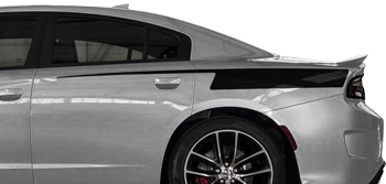 Rear Quarter Straight Edge Razor Stripes on the 2015 to Present Dodge Charger