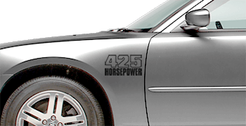 Front Fender Callouts on the 2006 to 2010 Dodge Charger