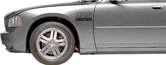Image of Front Fender Callouts on 2006 Dodge Charger