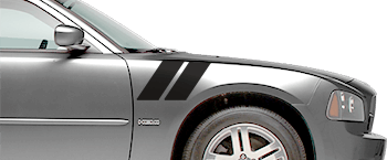 Hood to Fender Hash Stripes on the 2006 to 2010 Dodge Charger