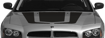 Hockey Stick Hood Decal on the 2006 to 2010 Dodge Charger