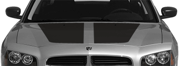 OEM Style Main Hood Decal on the 2006 to 2010 Dodge Charger