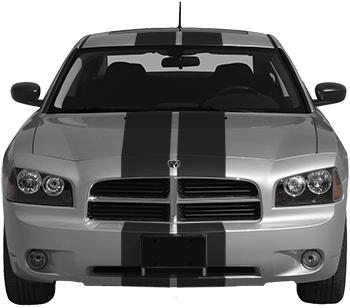 Rally Racing Dual Stripes Kit on the 2006 to 2010 Dodge Charger
