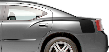 Rear Quarter Retro Hockey Stinger Stripes on the 2006 to 2010 Dodge Charger