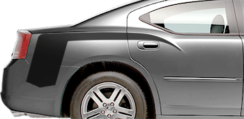 Rear Quarter Super Hockey Stinger Stripes on the 2006 to 2010 Dodge Charger