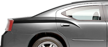Rear Quarter Stinger Stripes on the 2006 to 2010 Dodge Charger