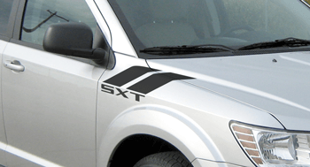Hood Fender Hash Stripes on the 2011 to Present Dodge Journey