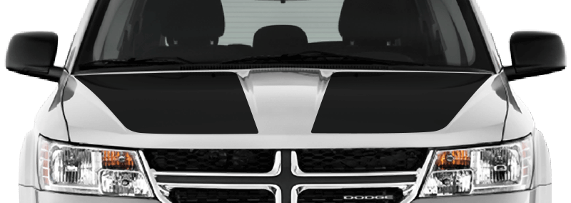 Image of Main Hood Decals on 2009 Dodge Journey