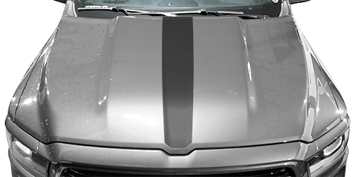 Dodge Ram 1500 Hood Center Stripe Vinyl Decal Graphic Striping Kit