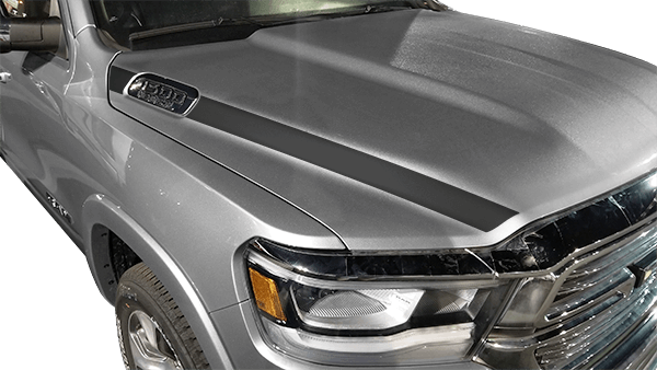 Dodge Ram 1500 Hood Side Stripes Vinyl Decal Graphic