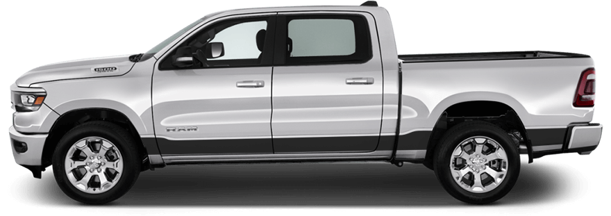 Dodge RAM the all-new 2019  decals side graphics stripe