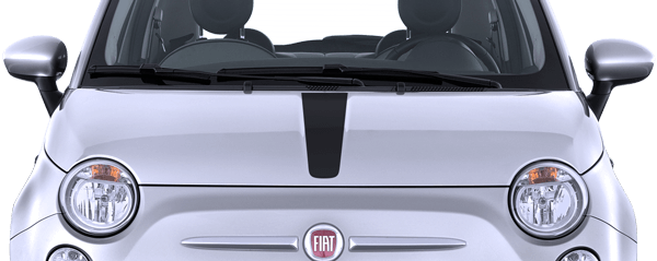 Image of Hood Center Stripe on 2010 Fiat 500