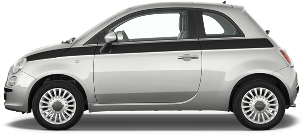 Image of Upper Body Side Stripes on 2010 Fiat 500