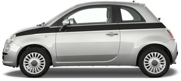 Image of Upper Side and Trunk Stripes on 2010 Fiat 500