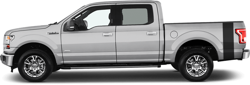 2015-2019 F-150 Bed Side Tail Stripes on vehicle image.