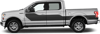 Image of Hockey Billboard Side Stripes on the 2015 Ford F-150