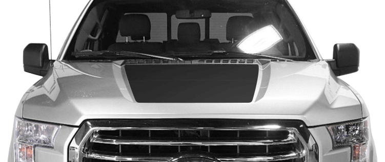 Ford F-150 Hood Center Decals : Vinyl Decal Graphic Striping Kit | Fits Years 2015, 2016, 2017 ...